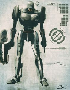 Industrial Robocop by *ninjaink