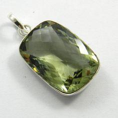 5.35GM, Natural Amethyst gemstone solid sterling silver shining pendant jewelry #Handmade #Pendant