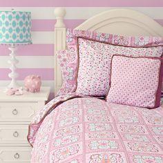 Modern Vintage Pink Duvet Cover