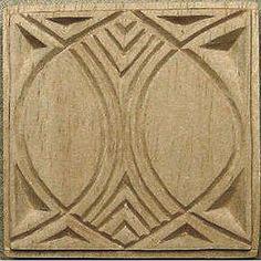 Carved Textile Stamp, African Design, Oshiwa Wood Printing Block, Item 10-17-1. $16,00, via Etsy.