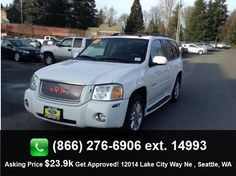2008 GMC Envoy Denali SUV Tire Pressure Monitoring System, Second Row Audio Controls, Power Steering, Automatic Headlights, Reading Lights, Power Locks, Alloy Wheels, Cup Holder, Tinted Windows, Heated Seats, Air Suspension, Side Curtain Airbags, Steering Wheel Controls, Split/Folding Seats, Power Seat (Dual), Cd (Single Disc), Daytime Running Lights, Bench Seat, Anti-Theft System, Auto-Dimming Mirror, Cargo Area Tie Downs