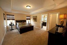Master bedroom in model.