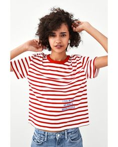 Image 2 of STRIPED T-SHIRT from Zara