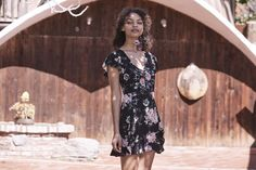Spring outfit in a casual style – AUGUSTE THE LABEL ELLA SPLIT FRONT PLAY DRESS VINTAGE BLOOM BLACK. This play dress is crafted from our exclusive Vintage Bloom print. With a button up front bodice and frilled detailing on the sleeves, skirt and hemline, this piece has a double split opening that makes it easy to move in. Pair it with easy sneakers or your favourite boots to go from day to night with ease. #fashionstyle #springsummer2017