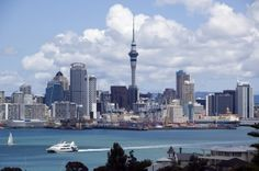 Auckland, New Zealand Skyline. Very nice city Work In New Zealand, New Zealand Travel, Places Around The World, Travel Around The World, Around The Worlds, Auckland, Great Places, Places To See, Best Honeymoon