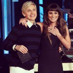 Cory Monteith And Lea Michele Hookup Ellen