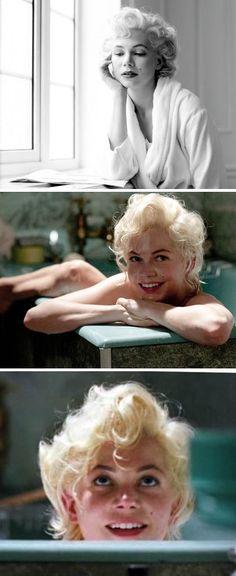 Michelle Williams as Marilyn Monroe in My Week with Marilyn (2011)