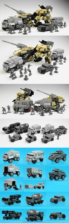 LEGO Mechs and assault/transport vehicles by Zizy Robot Lego, Construction Lego, Lego Machines, Micro Lego, Lego Army, Lego Ship, Amazing Lego Creations, Lego Craft, Lego Mechs