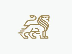 animal gold design safari identity illustration line logo marks natural leo symbol
