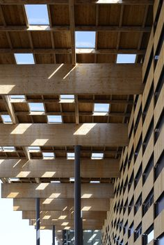 """""""Besançon Art Center and Cité de la Musique"""" (2013) roof   Besançon, France • Kengo Kuma + Associates. """"To realize this """"shade of trees"""" like space, we assembled different natural materials to create a mosaic on the roof."""" — Kengo Kuma + Associates"""