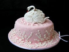 """With this cake I said, """"Welcome, Margaret"""" to my little niece. Swan is hand-made. / Excuse me for the English if it is not accurate. I use the Google translator /"""
