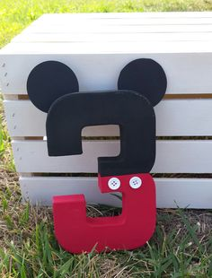 Mickey Mouse inspired photo prop mickey mouse by KinzleysBowtique