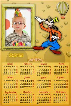 Recursos Photoshop Llanpac: Calendario del 2015 de Goofy para Photoshop (Psd y...