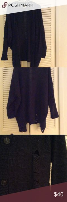 stylish cardigan😊 Like New!!!! stylish cardigan, dark blue color💙 Urban Outfitters Sweaters Cardigans