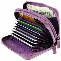 EAPTS Women Travel Passport Credit ID Card Cash Wallet Purse Holder Case Document Bag 01