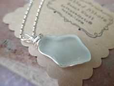 Beach glass necklaces.