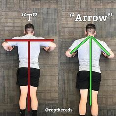"""""""T"""" OR """"ARROW"""" IN YOUR PUSH-UP? """"T"""" is classified as flaring your elbows essentially creating the letter """"T"""". An """"Arrow"""" is classified as slightly tucking your elbows creating an arrow shape with your body. Doing push-ups in a """"T"""". Increases chance of shoulder impingement leading to shoulder pain. Decreases the efficiency of power creating a greater leverage. Doing push-ups in an """"Arrow"""". Lessens the risk of shoulder pain. Creates a more efficient, powerful, push-up using good leverage."""