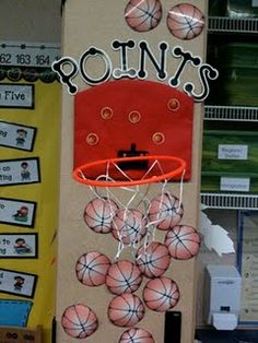 Every time they transitioned as a whole class really quickly or were caught focusing on a task, I popped up a printed basketball near our hoop (I have a team theme going on). Every time my class earned twenty basketball points, they got to choose something special such as extra recess, read in with a stuffy or pillow, or PJ day.