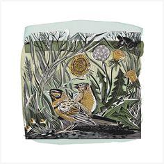 The Wonders of Weeding - Angela Harding Lovely Creatures, Linocut, Linocut Prints, Art, Print Artist, Childrens Art, Silk Screen Printing, Prints, Earth Art
