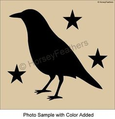 Joanie Stencil Potting Shed Crow Garden Birds Country Primitive Yard Cabin Sign