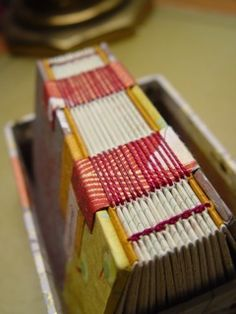 Cute binding sewn over tapes
