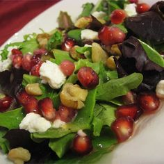 """Pomegranate Feta Salad with Lemon Dijon Vinaigrette I """"I love this recipe. I'm always asked for the recipe for the dressing. Great combination of flavors with the dressing, feta, pomegranate. Yum."""""""