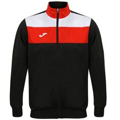 b50b9dc57ed2 Joma Crew Polyester Jacket - Black Red White Joma Crew Polyester Jacket -  Black