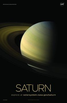 A selection of awe-inspiring NASA posters of our Solar System's second largest planet, Saturn, printed on premium satin paper. Nasa Planets, Space Planets, Space And Astronomy, Solar System Pictures, Cosmos, Planet Mobile, Earth Sun And Moon, Planet Pictures, Galaxies
