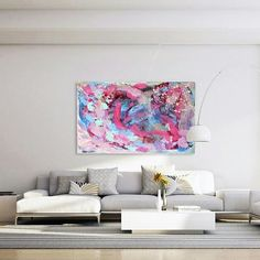 Look how a colorful painting can brighten up a place with neutral colors. This painting is available in my website through link in bio. The actual size is smaller than it looks in this picture. . . . #deniseart #artwork #shopart #buyart #livewithart #originalartwork #abstractpainting #deco #decoradores #decorationideas #homedecor #decoratewithart #wallhanging #interiorinspo #interiorinspiration #interiordesignideas #artgram #colorfulartwork #greekartist #firsthome #firsthomebuyer…