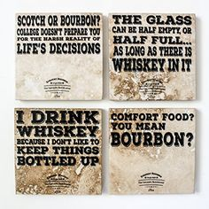 Bourbon/Whiskey Coasters by the Sarcastic Nutritionist