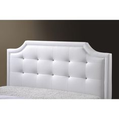 Carlotta White Modern Bed with Upholstered Headboard | Overstock.com Shopping - Great Deals on Baxton Studio Beds  $415.99