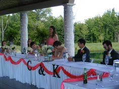 Bridal party table letters