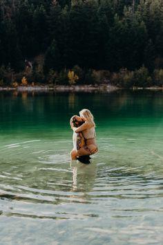 water engagement photoshoot, intimate photography