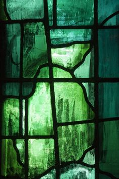 green stained glass art, great colour n texture