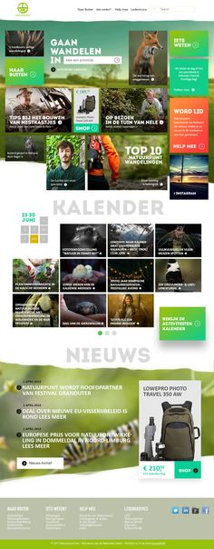 Natuurpunt.be Redesign Pitch by Pieter Vandenbulcke, via Behance