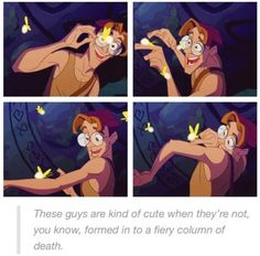 They are kinda cute when they're not setting stuff on fire. True wisdom from Milo Disney Pixar, Disney Memes, Disney Marvel, Disney And Dreamworks, Disney Cartoons, Disney Love, Disney Magic, Walt Disney, Disney Stuff