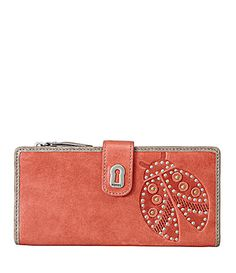 To all the Lady Bug Girls ~ Fossil Ruby Tab Clutch