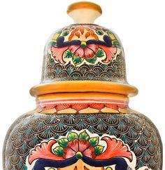 Talavera Jars & Vases Collection - Talavera Ginger Jar by Maximo Huerta - TGJ540