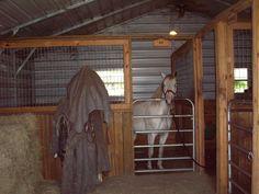 Barn Stalls, Horse Stalls, Goat Barn, Farm Barn, Small Horse Barns, Horse Barn Plans, Horse Shelter, Dream Barn, My Horse