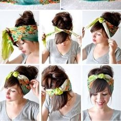 How to wrap that head scarf. Read later- not sure if its dif from how I already do it