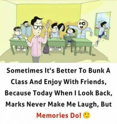 Make Memories. Tag your friends School Days Quotes, Funny School Stories, Funny School Jokes, Some Funny Jokes, School Humor, Childhood Friendship Quotes, Childhood Memories Quotes, Real Friendship Quotes, School Memories