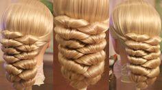 Hairstyle for medium hair - Причёска с резинками - Hair tutorial - Hairs...