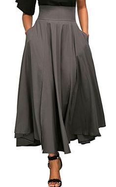 Women High Waist Pleated A Line Long Skirt Front Slit Belted Maxi Skirt Saia Das Mulheres Falda Larga Saia Longa Jupe Femme Womens Maxi Skirts, Long Maxi Skirts, A Line Skirts, Skater Skirts, Maxi Dresses, Midi Skirt With Pockets, Pleated Midi Skirt, Dress Skirt, Sexy Skirt