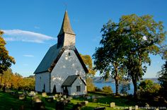 Byneset Church in Norway - gorgeous setting!