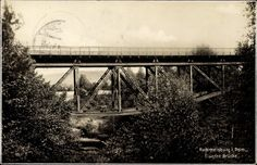 Eiserne Brücke in Rummelsburg 1929
