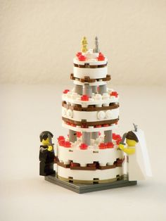 #LEGO #wedding #cake