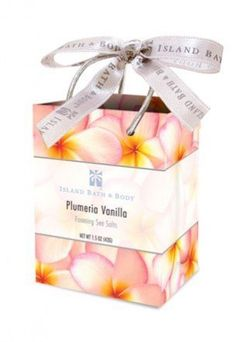 Island Bath & Body Plumeria Vanilla Foaming Mineral Salt Bag 1.5oz. by Tikimaster. $3.60. Our Island Bath & Body Plumeria Vanilla Foaming Mineral Salt will allow you to bring the fragrance of the Hawaii to your day. Submerge yourself in a sea of soothing, fragrant aromatherapy with our foaming mineral salts. Naturally drawing impurities from the skin, they inspire a healthy island glow. The beautiful Hawaiian packaging of this item makes for an easy, yet thoughtful ...