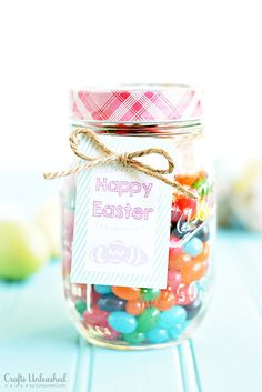 Easter mason jars and free easter printable bunny bait printable easter gifts last minute mason jar treats with free printable negle Gallery