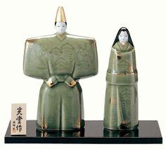 【薬師窯・雛人形】瑞祥立雛(天龍寺青磁釉・大)/2268【楽天市場】