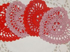 """Купить Подставка вязаная """"Сердце"""" - ярко-красный, розовый цвет, сердце в подарок, сердце"""
